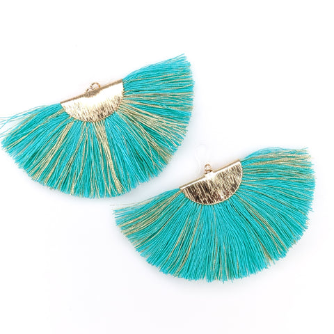 FANtastic Tassel Earrings (Dangles) - turquoise