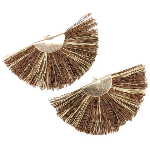 FANtastic Tassel Earrings (Dangles) - brown