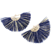 FANtastic Tassel Earrings (Dangles) - navy