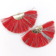 FANtastic Tassel Earrings (Dangles) - red