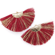 FANtastic Tassel Earrings (Dangles) - maroon