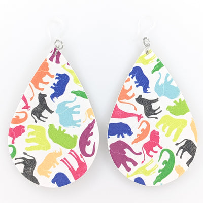 Zoo Animal Earrings (Teardrop Dangles)