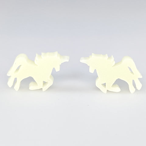 Glossy Majestic Unicorn Earrings