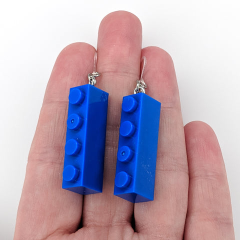 Brick Earrings (Dangles) - size comparison hand