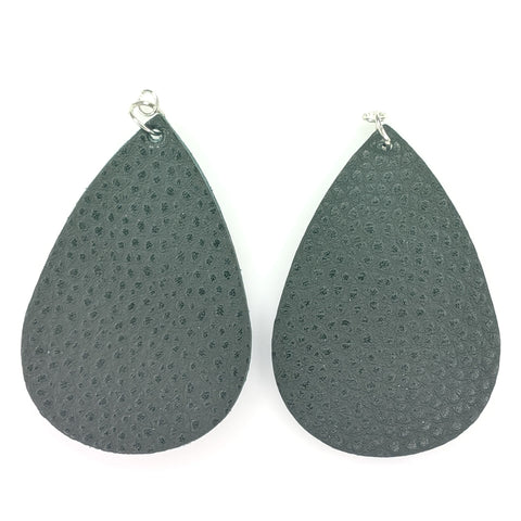 Yoga Mat Earrings (Teardrop Dangles) - Black