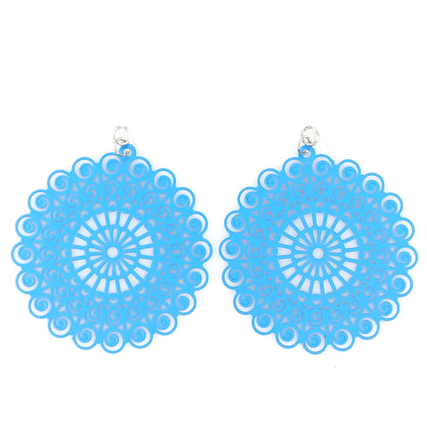 Whimsical Earrings (Dangles) - bright blue