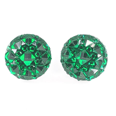 Crocodile Button Earrings (Studs) - green