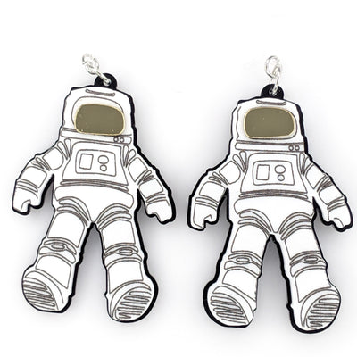 Spacesuit Earrings (Dangles) - white