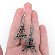 Silver Eiffel Tower Earrings