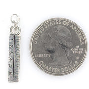 Ruler Earrings (Dangles) - size comparison quarter