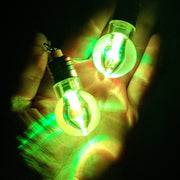 Flashing Light Bulb Earrings (Dangles) - green lights