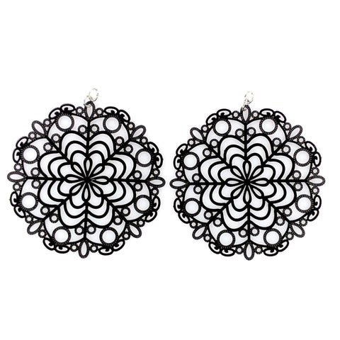 Bubble Wand Earrings (Dangles) - black