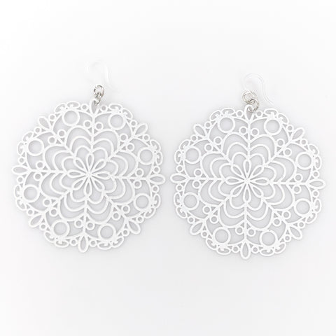 Bubble Wand Earrings (Dangles) - white