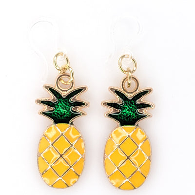 Perfect Pineapple Earrings (Dangles) - yellow and green