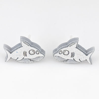 Baby Shark Earrings (Studs) - stilver
