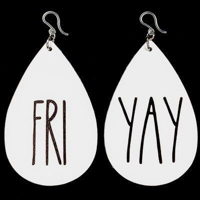 FriYay Earrings (Teardrop Dangles)
