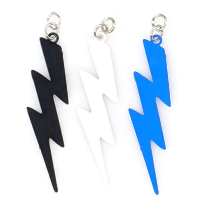 Lightning Bolt Earrings (Dangles) - various colors