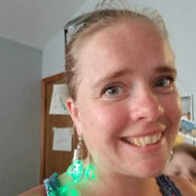 Flashing Light Bulb Earrings (Dangles) - happy customer with green lights