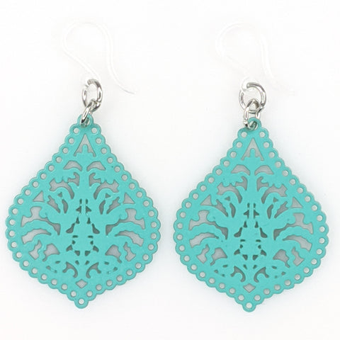 Moroccan Lamp Earrings (Dangles) - turquoise