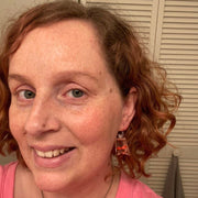 Fair Fish Earrings (Dangles) - size comparison on happy customer