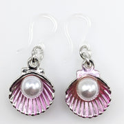 Oyster Earrings (Dangles) - pink