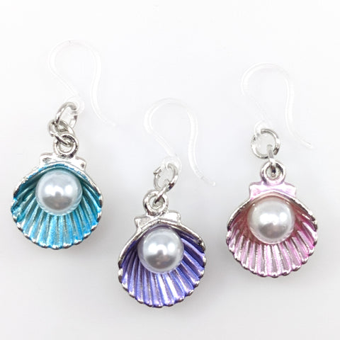Oyster Earrings (Dangles) - all colors