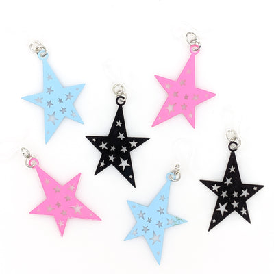 Punk Star Earrings (Dangles) - all colors