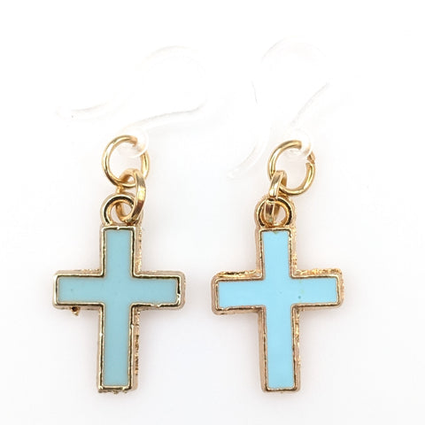 Pastel Cross Earrings (Dangles)