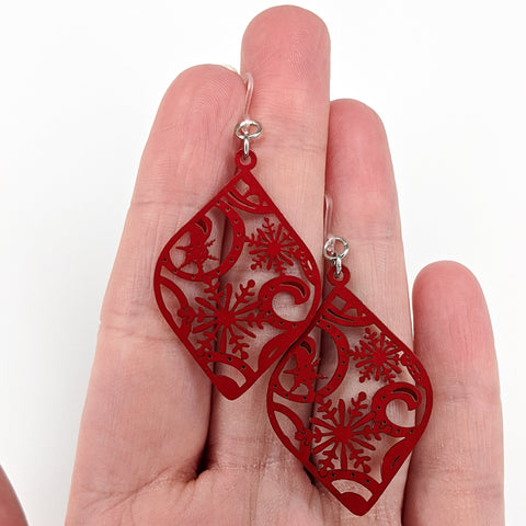 Christmas Ornament Earrings (Dangles)