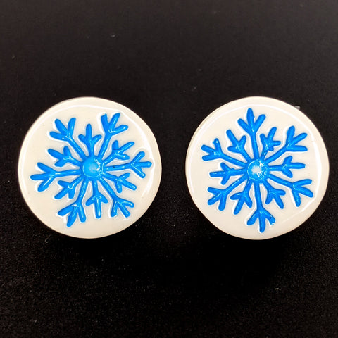 Crystalized Snowflake Earrings