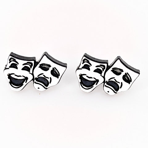 Comedy and Tragedy Earrings (Studs) - double
