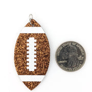 Glitter Football Earrings (Dangles)
