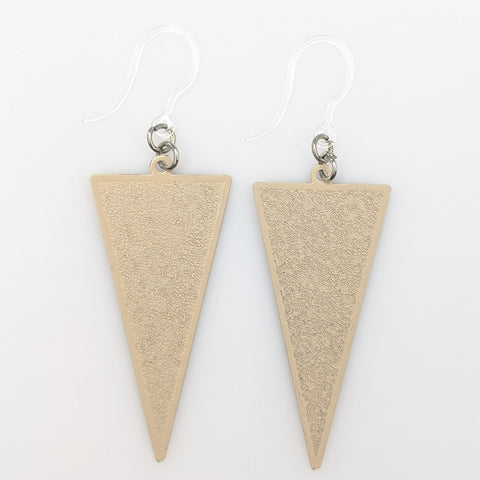 Inverted Triangle Earrings (Dangles) - taupe