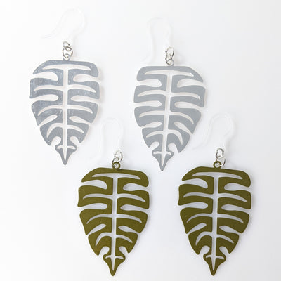 Palm Leaf Earrings (Dangles) - all colors
