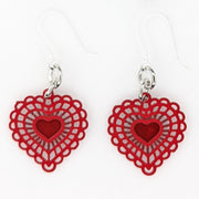 Doily Heart Earrings (Dangles)
