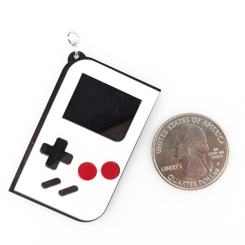 Game Console Earrings (Dangles) - size comparison quarter