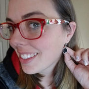 Petite Faux Druzy Drop Earrings (Dangles) - happy customer