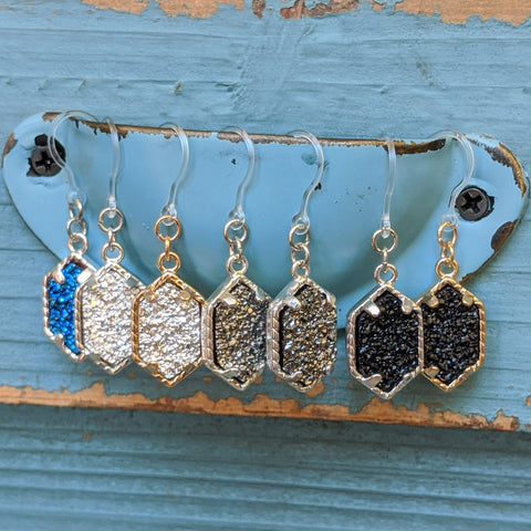 Petite Faux Druzy Drop Earrings (Dangles) - all colors