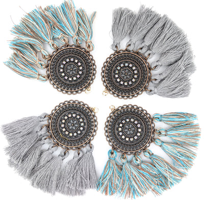 Bohemian Rhinestone Fringe Earrings (Dangles) - all colors