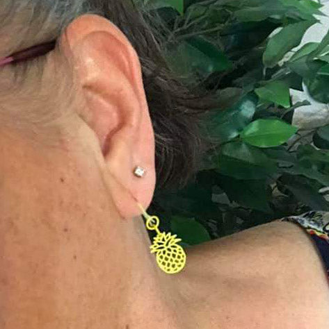 Pineapple Earrings (Dangles) - happy customer