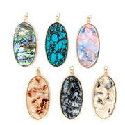 Faux Stone & Shell Earrings (Dangles) - all colors
