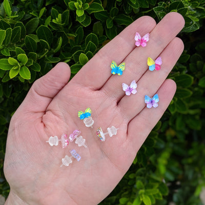 Glassy Butterfly Earrings (Studs) - all colors
