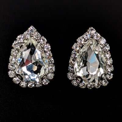 Teardrop Rhinestone Earrings (Studs)