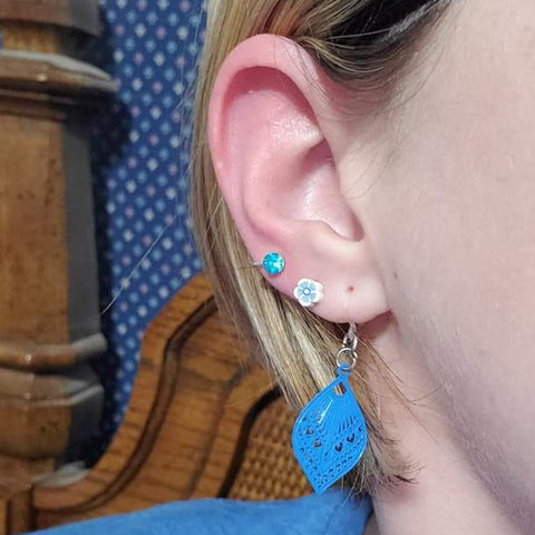 Small Peacock Earrings (Dangles)