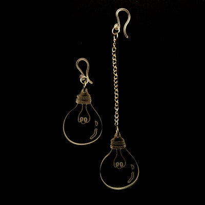 Clear Light Bulb Earrings (Dangles)