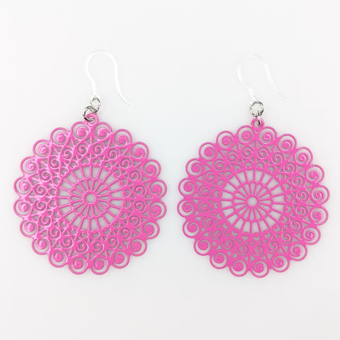 Whimsical Earrings (Dangles) - pink