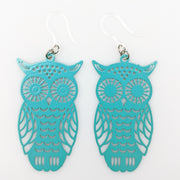 Owl Earrings (Dangles) - turquoise
