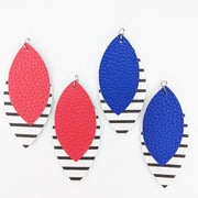 Double Layer Stripe Earrings (Teardrop Dangles) - all colors