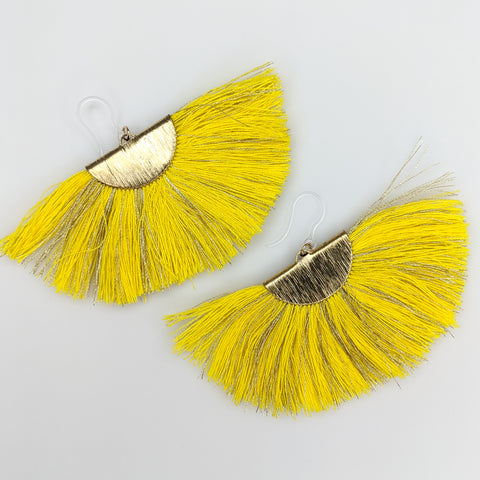 FANtastic Tassel Earrings (Dangles) - yellow