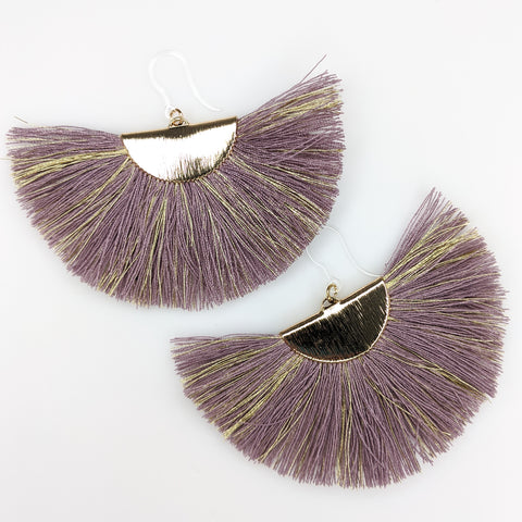 FANtastic Tassel Earrings (Dangles) - purple